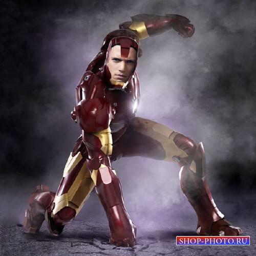 Шаблон для фотошопа - Железный человек