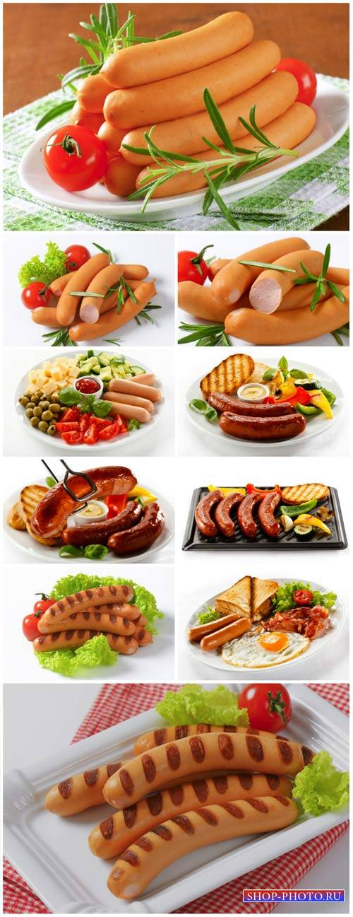 Sausages, delicious - stock photos