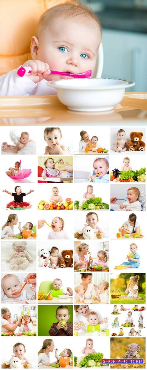 Happy little children, kids - stock photos
