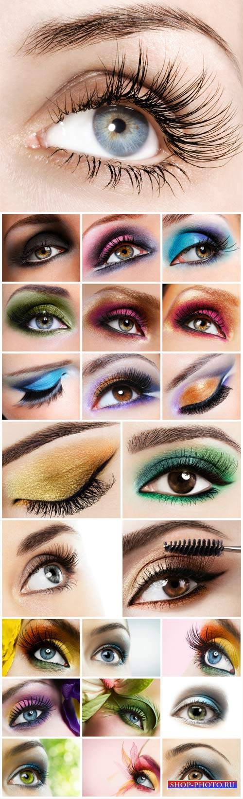 Eyes, beautiful makeup - stock photos