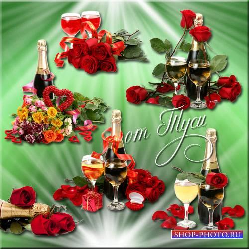 Клипарт - Бутоны роз, как чаша полная любви