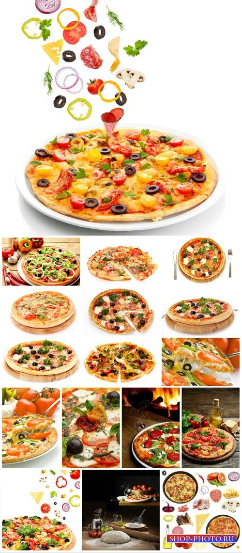 Pizza, delicious food - stock photos