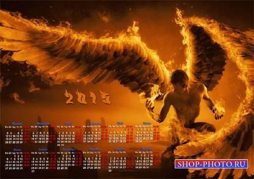 Календарь настенный - Огненный ангел