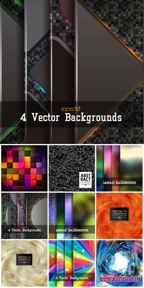 Vector backgrounds with abstraction # 47