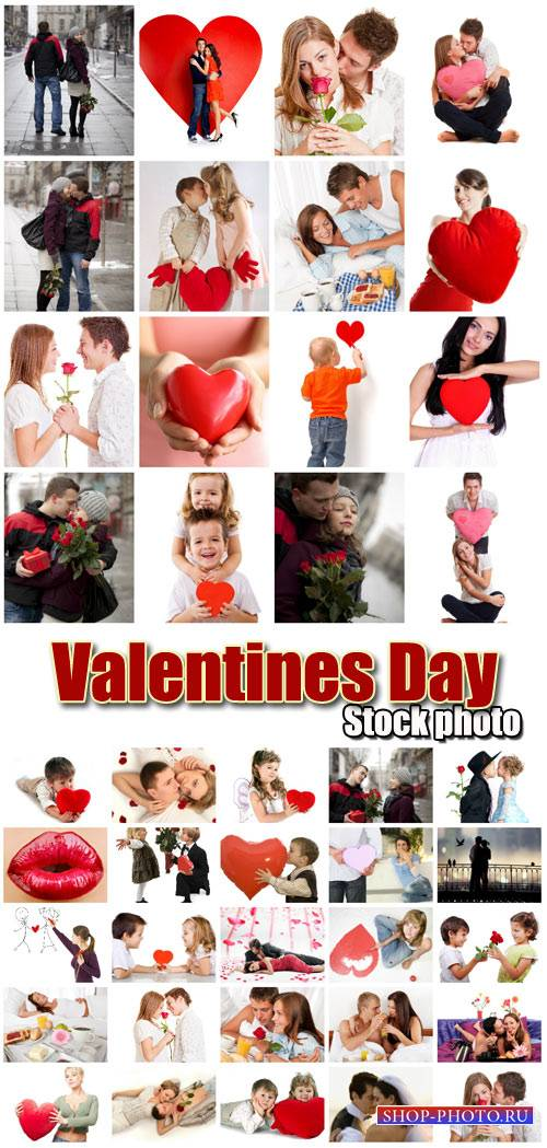 Valentine's Day, people with hearts # 19 - stock photos