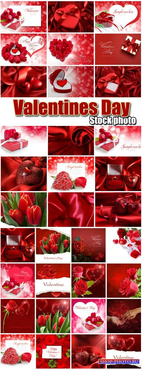 Valentine's Day, romantic backgrounds, roses, hearts # 17 - stock photos