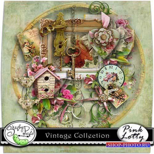 Винтажный скрап-комплект - Винтажная коллекция