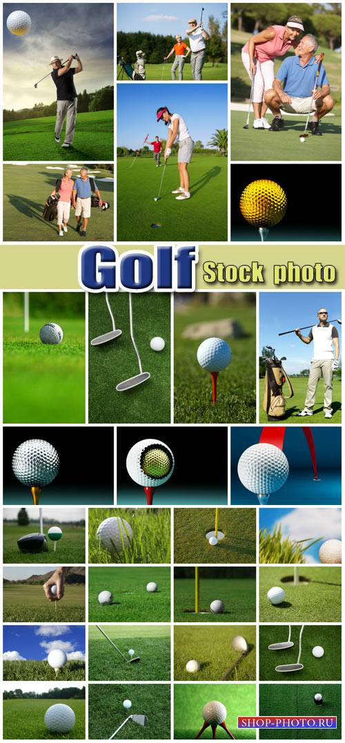 Golf, men and sports - stock photos