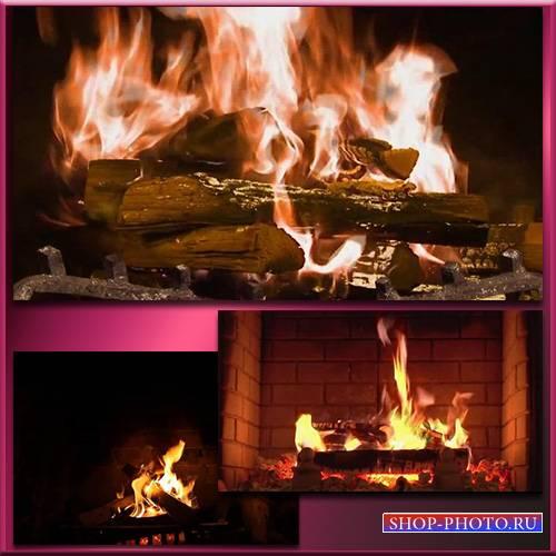 Огонь в камине - Футаж /  Fireplace and Fire - Footage