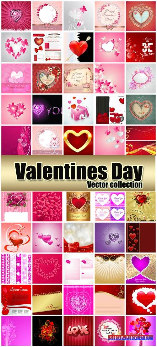 Valentine's Day romantic background vector hearts # 37