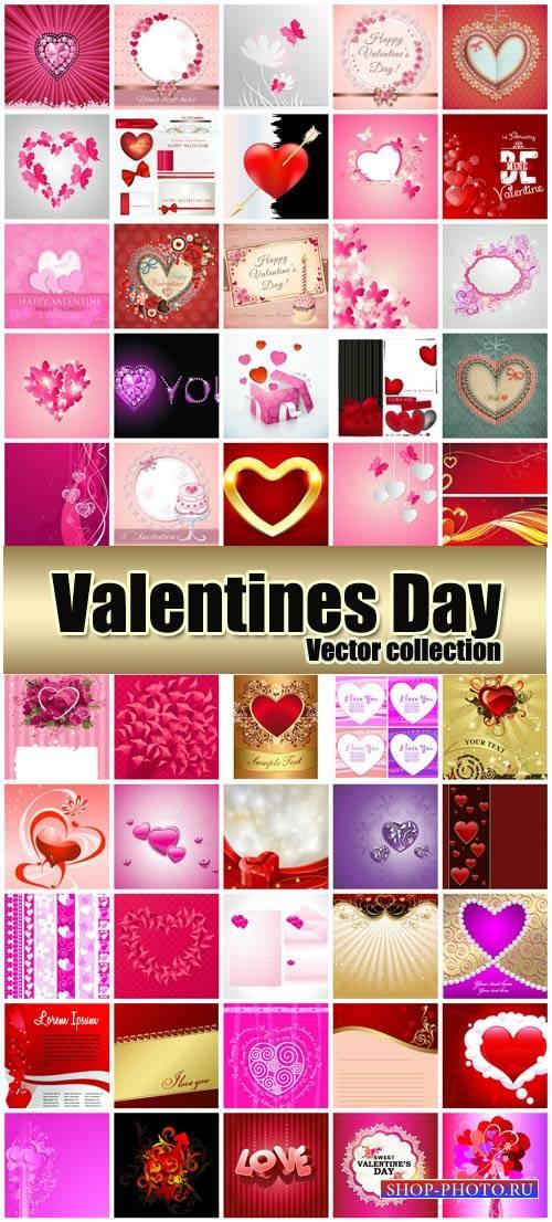 Valentine's Day romantic background vector hearts # 37