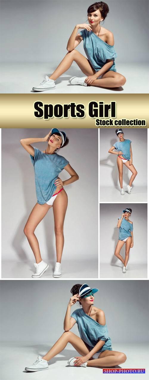 Beautiful sports girl - stock photos