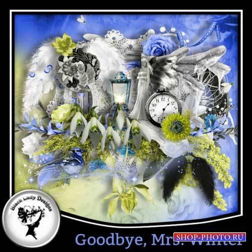 Весенний скрап-комплект - До свидания,зима
