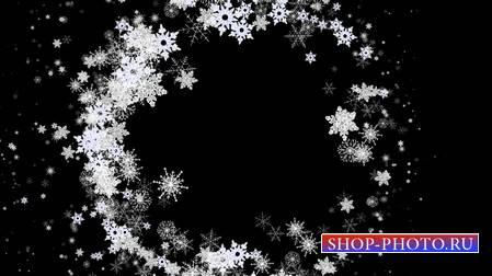 Футаж - шар из снежинок