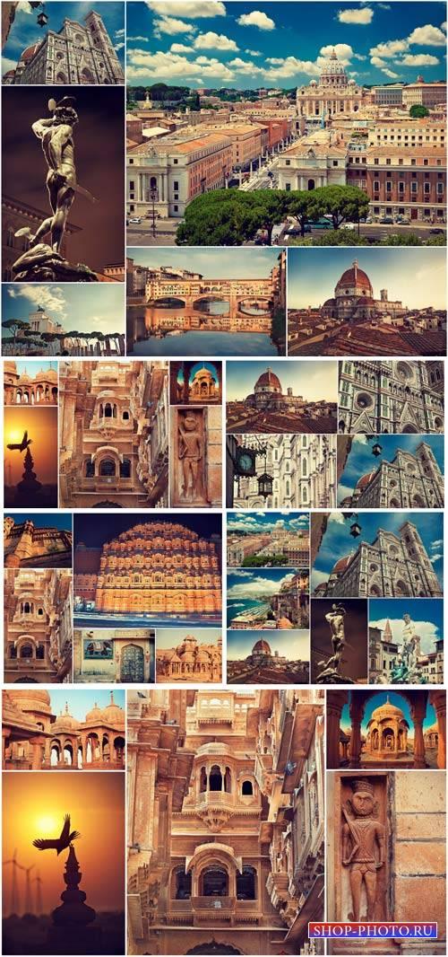 Architecture, India, Italy - stock photos