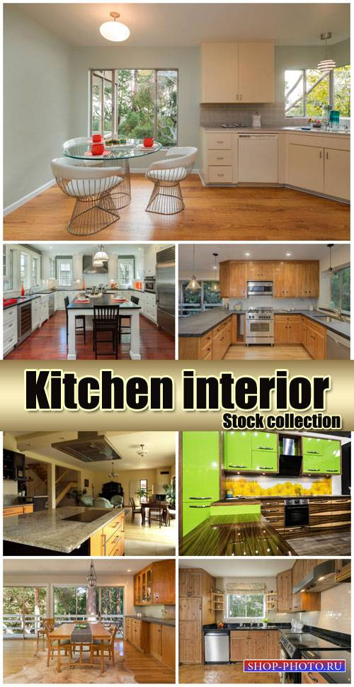 Kitchen interior, design - stock photos