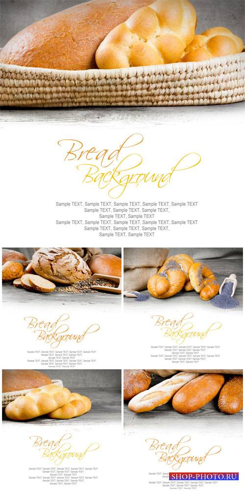 Bread, pastry on a white background - Stock photo