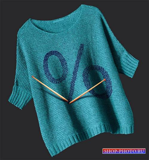 Видеоурок для photoshop - Вышивка на свитере