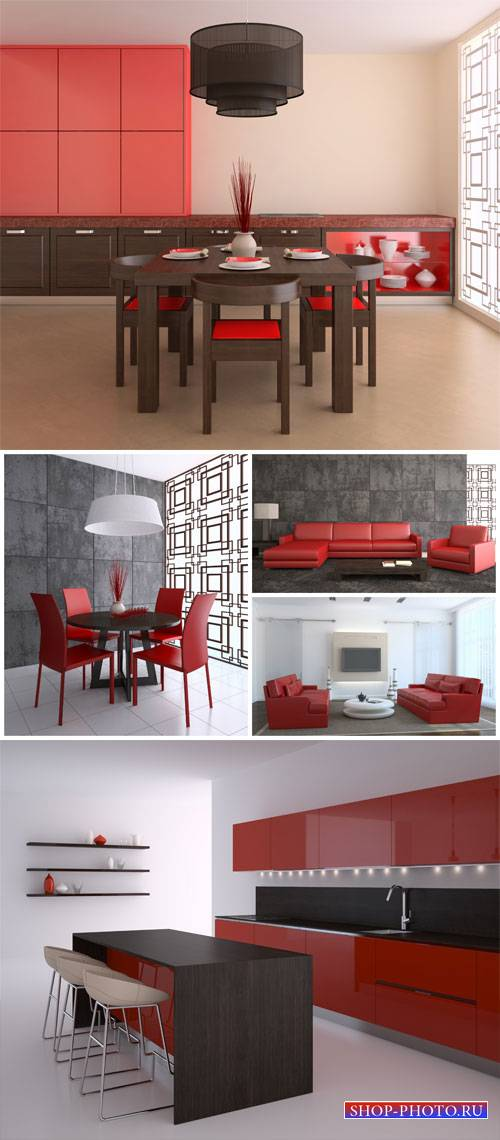 Interior in modern style - stock photos