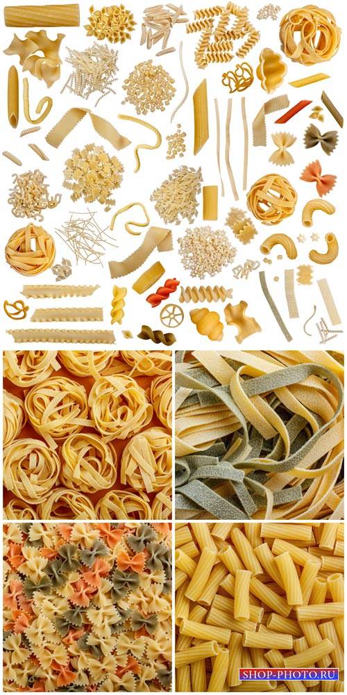 Pasta, flour products - stock photos