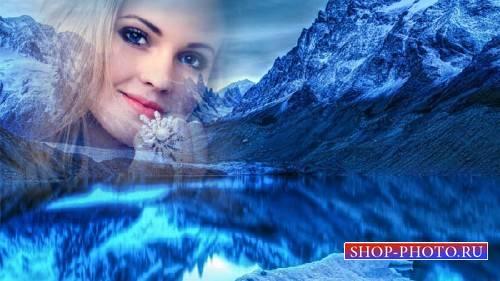 Рамка для фотошопа - Озеро в горах