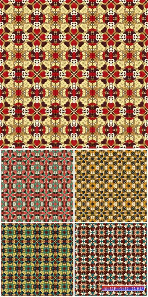 Vintage patterns, vector colorful backgrounds