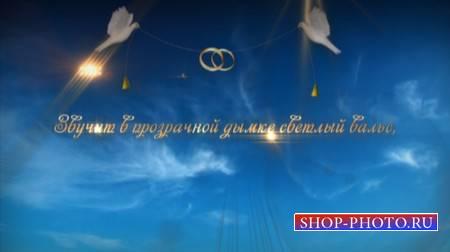 Свадебный футаж - с голубями и титрами