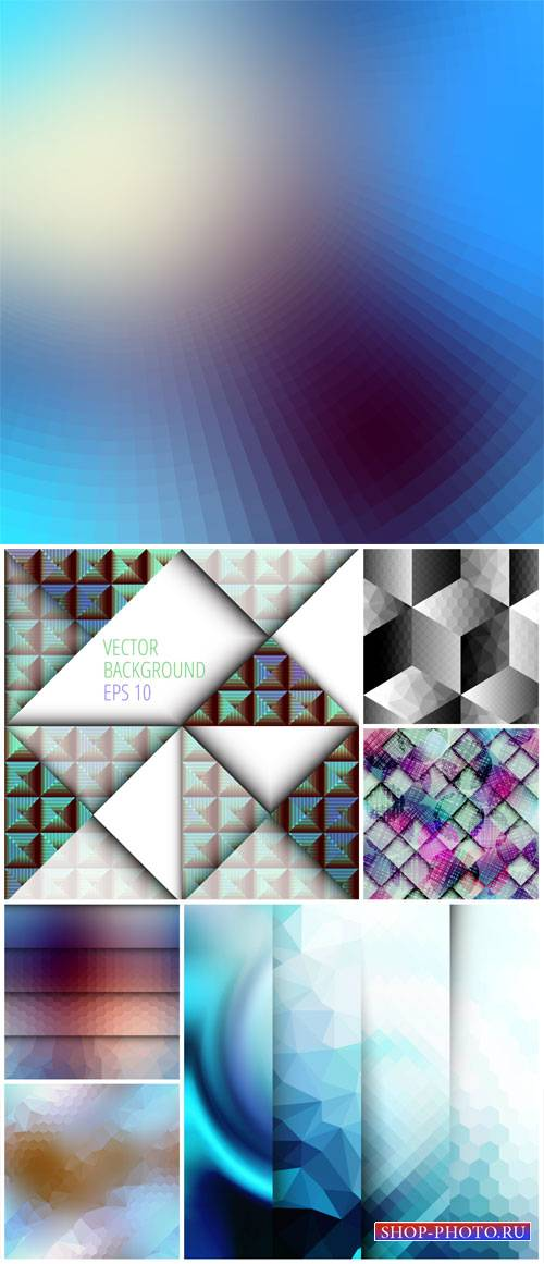 Vector backgrounds, abstract texture in different shades