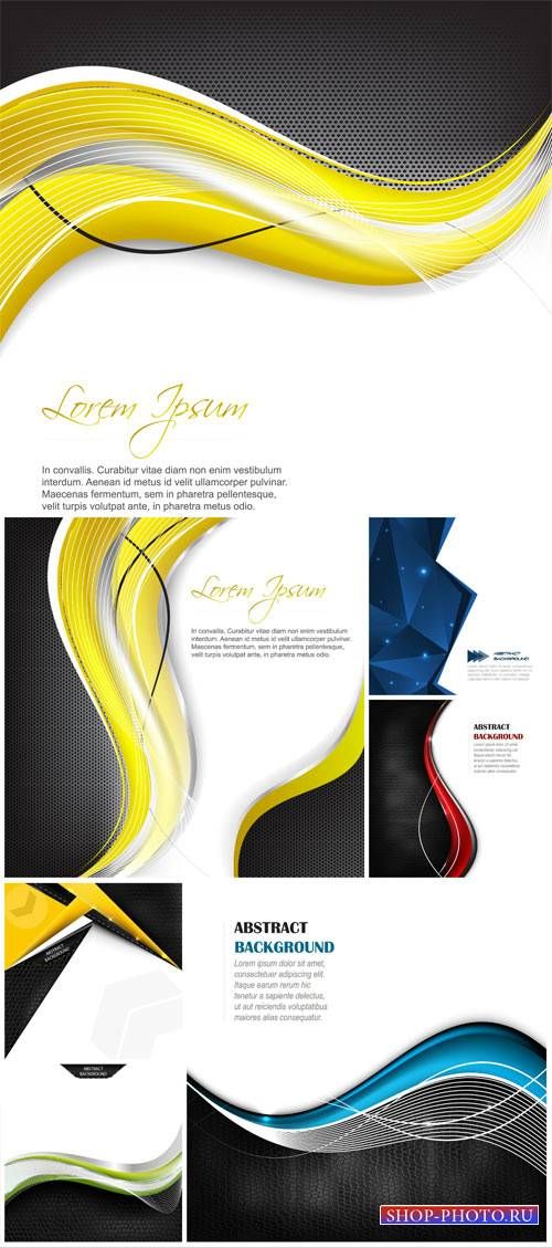 Vector backgrounds with abstract elements