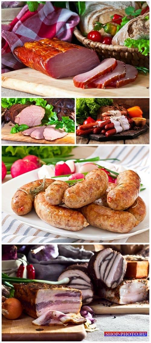 Meats, ham, sausage - stock photos