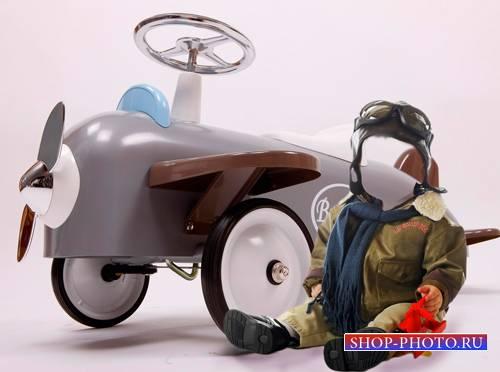 Шаблон для фотошопа  - Маленький пилот