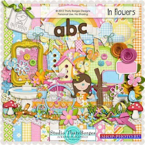 Детский скрап-комплект - В цветах