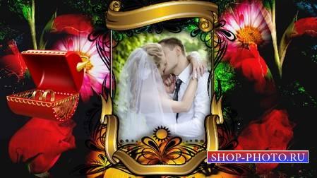 Свадебный футаж - рамка с альфаканалом