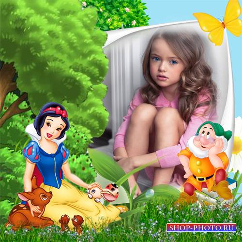 Рамка детская – Поляна сказок