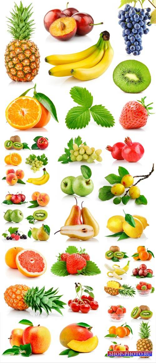Fresh fruits and berries - a collection of stock photos