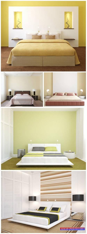 Interior bedroom in modern style - Stock Photo