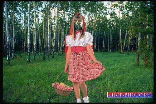 Шаблон для фото - Красная шапочка