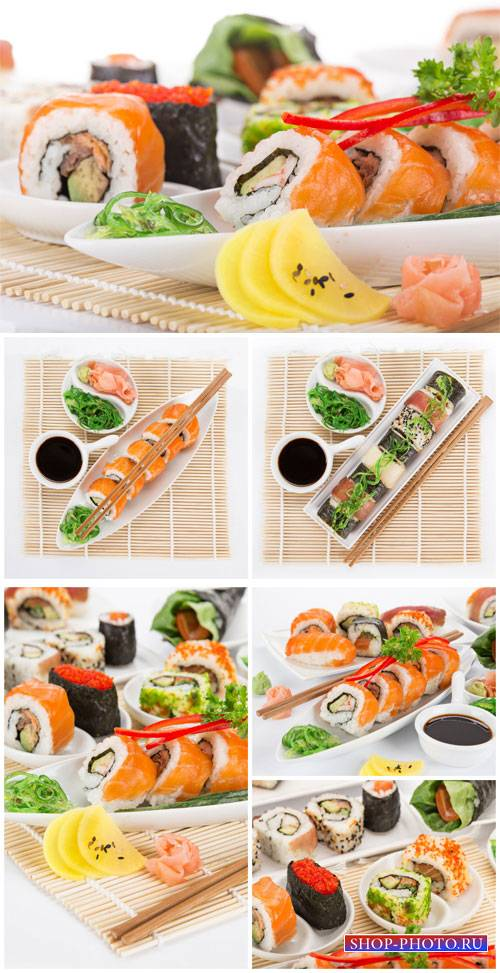 Sushi, rolls, food - stock photos