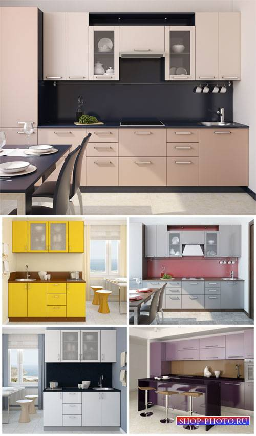 Interior, kitchen in modern style - Stock Photo