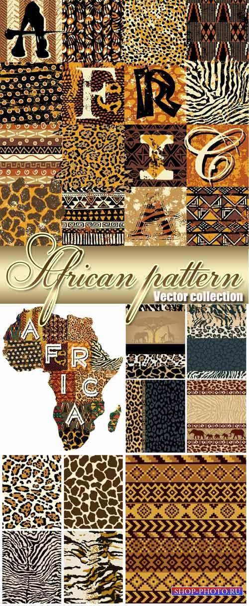 African texture, vector backgrounds