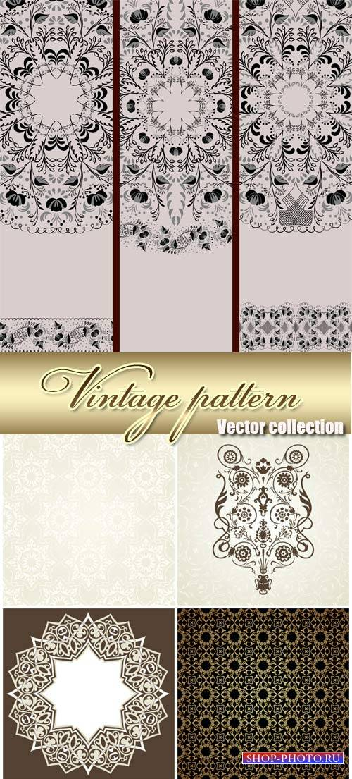 Vintage vector background with Indian ornaments