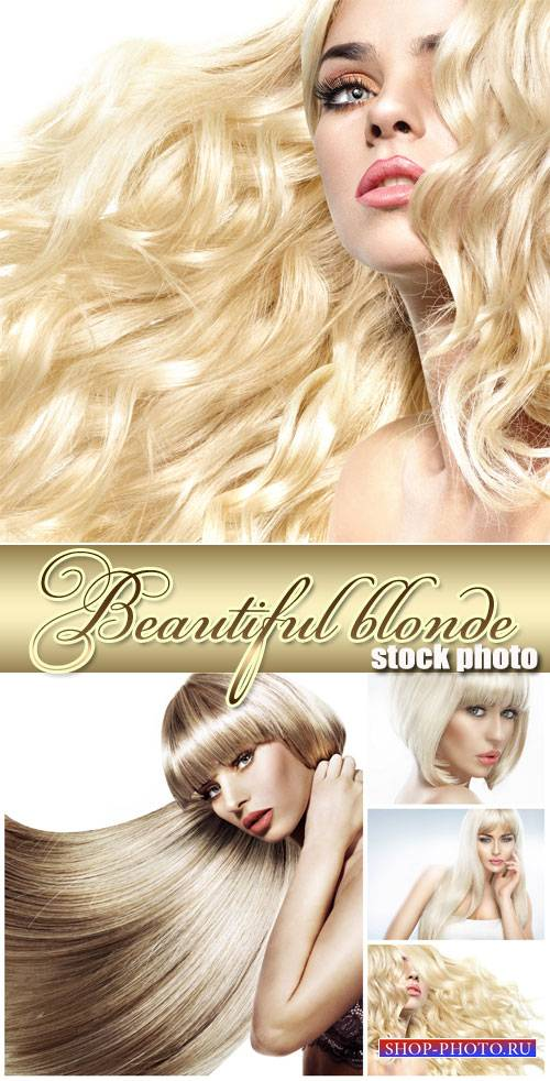 Beautiful blonde with long hair - Stock Photo