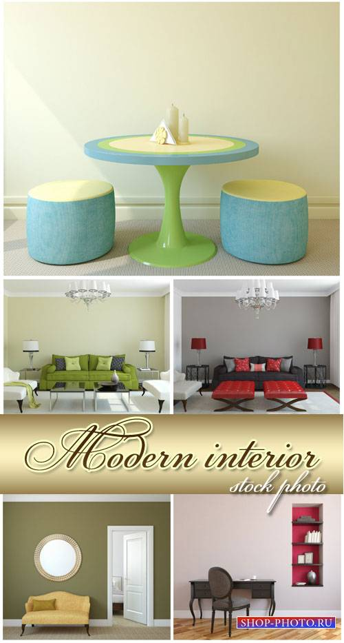 Interior, sofas, tables and chairs - stock photos
