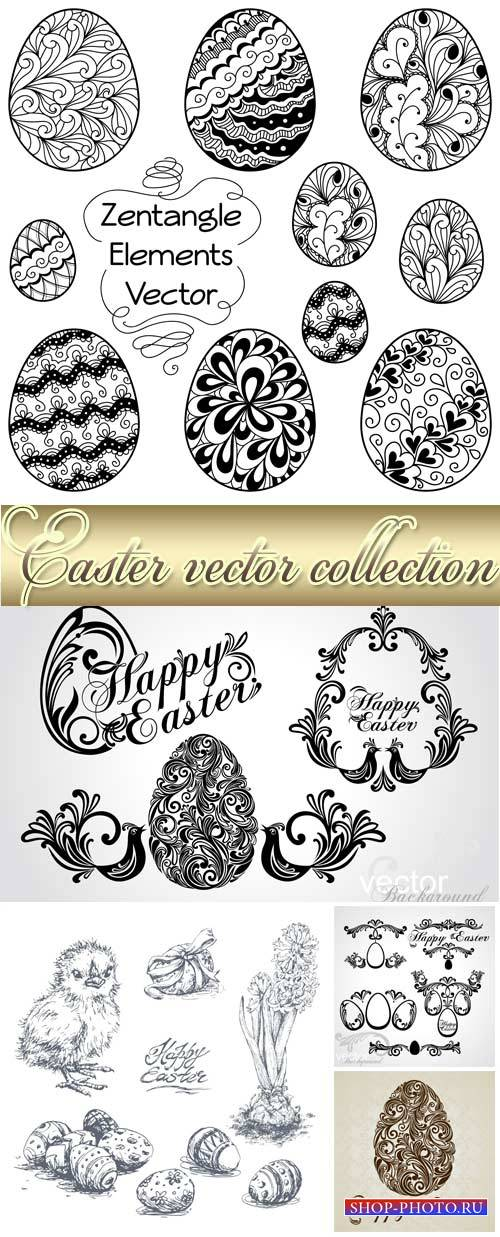 Easter vector, decorative elements