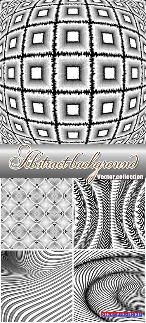Black and white abstract backgrounds vector