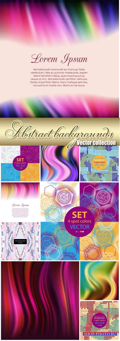 Vector collection of abstract backgrounds
