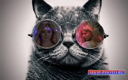 Рамка для фотошоп - Отражение в очках