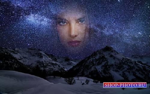 Рамка к фото - Звездное небо в горах