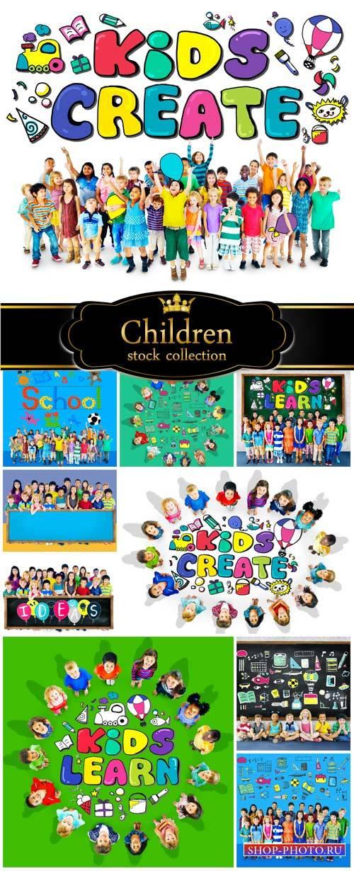 Children, ideas and creativity - stock photos