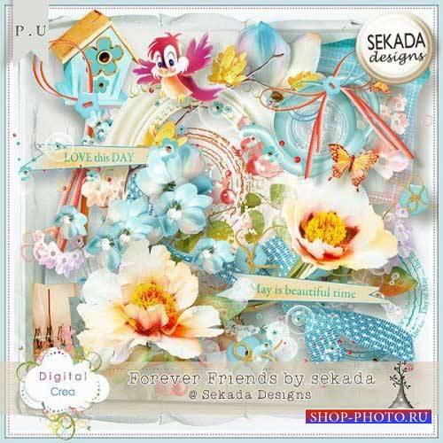 Весенний скрап-комплект - Друзья навеки